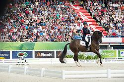 Charlotte Dujardin, (GBR), Valegro - Freestyle Grand Prix Dressage - Alltech FEI World Equestrian Games™ 2014 - Normandy, France.<br /> © Hippo Foto Team - Jon Stroud<br /> 25/06/14
