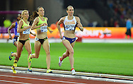 Laura Weightman on her way to win the 1500m at the Sainsbury's Anniversary Games at the Queen Elizabeth II Olympic Park, London, United Kingdom on 24 July 2015. Photo by Mark Davies.