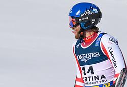 15.02.2021, Cortina, ITA, FIS Weltmeisterschaften Ski Alpin, Alpine Kombination, Herren, Super G, im Bild Marco Schwarz (AUT) // Marco Schwarz of Austria reacts after the Super G competition for the men's alpine combined of FIS Alpine Ski World Championships 2021 in Cortina, Italy on 2021/02/15. EXPA Pictures © 2021, PhotoCredit: EXPA/ Erich Spiess
