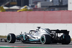 February 28, 2019 - Spain - Lewis Hamilton (Mercedes AMG Petronas Motosport) W10 car, seen in action during the winter testing days at the Circuit de Catalunya in Montmelo  (Credit Image: © Fernando Pidal/SOPA Images via ZUMA Wire)