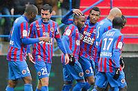 Joie Julien FERET - 01.02.2015 - Caen / Saint Etienne - 23eme journee de Ligue 1 -<br />Photo : Vincent Michel / Icon Sport