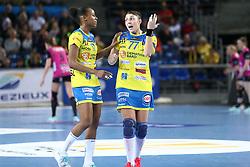 November 3, 2019, France: Olga Perederiy (Metz Handball) Orlane Kanor  (Credit Image: © Panoramic via ZUMA Press)