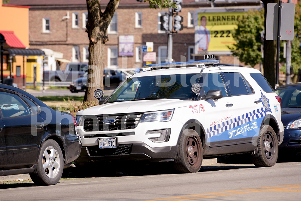 Chicago Police Police SUV vehical in Chicago on Wednesday, Aug. 19, 2020.  Photo by Mark Black