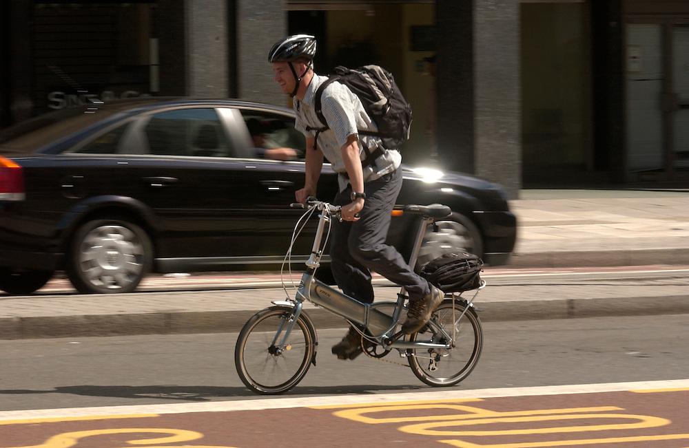 Biking in the London, England