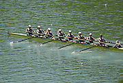 Lucerne, SWITZERLAND, GBR W8+, Bow, Baz MOFFAT, Carla ASHFORD, Georgina MENHENEOTT, Rebecca ROWE, Beth RODFORD, Jessica-Jane EDDIE, Katie GREVES, Louisa REEVE and Cox Caroline O'CONNER, competing at the 2007 FISA World Cup, Lucerne, on the Rotsee Lake, 13/07/2007  [Mandatory Credit Peter Spurrier/ Intersport Images] , Rowing Course, Lake Rottsee, Lucerne, SWITZERLAND.