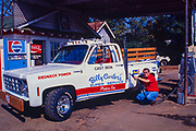 "Billy Carter fuels his new ""Redneck Power"" pickup truck at his Plains, Georgia gas station. A nodel of the pickup was produced by Revell and sold internationally. William Alton - Billy - Carter (March 29, 1937 – September 25, 1988) was an American farmer, businessman, brewer, and politician, and the younger brother of U.S. President Jimmy Carter. Carter promoted Billy Beer and was a candidate for mayor of Plains, Georgia. Carter was born in Plains, Georgia, to James Earl Carter Sr. and Lillian Gordy Carter. He was named after his paternal grandfather and great-grandfather, William Carter Sr. and William Archibald Carter Jr. respectively. He attended Emory University in Atlanta but did not complete a degree. He served four years in the United States Marine Corps, then returned to Plains to work with his brother in the family business of growing peanuts. In 1955, at the age of 18, he married Sybil Spires (b. 1939), also of Plains. They were the parents of six children: Kim, Jana, William ""Buddy"" Carter IV, Marle, Mandy, and Earl, who was 12 years old when his father died."