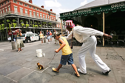 August 14, 2006 - New Orleans, Louisiana, U.S - French Quarter street performer Johnie Miller, 60, better known as 'Uncle Louie' poses for a photo at Cafe Du Monde in New Orleans, Louisiana, on August 14, 2006. Miller was arrested by New Orleans police on Tuesday on a warrant from Jacksonville, Florida, SheriffÃ•s Office on a cold case involving the armed robbery and death of a Jacksonville store owner in 1974. Photo by James Edward Bates. (Credit Image: © James Edward Bates via ZUMA Wire)