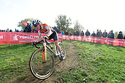 Belgium, November 1 2017:  Maïna Galand, EC Landerneau, during the 2017 edition of the Koppenbergcross elite women's race. Maïna finished in 13th place. Copyright 2017 Peter Horrell.