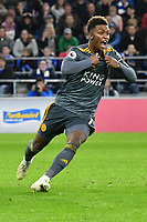 Football - 2018 / 2019 Premier League - Cardiff City vs. Leicester City<br /> <br /> Demarai Gray  of Leicester City celebrates scoring his team's first goal in Leicster's 1st match since the death of Vichai Srivaddhanaprabha, at Cardiff City Stadium.<br /> <br /> COLORSPORT/WINSTON BYNORTH