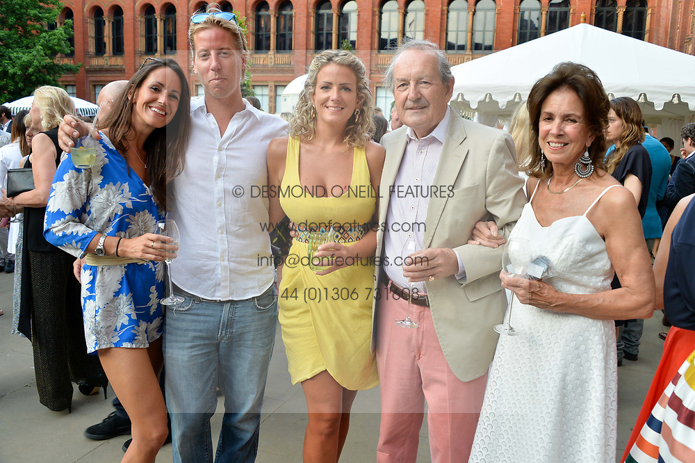Left to right, Alex Pakenham, Nick Poulton, ?, the Hon.Sir Michael Pakenham and Lady Pakenham at the V&A Summer Party 2017 held at the Victoria & Albert Museum, London England. 21 June 2017.