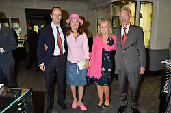 Left to right, BALTHAZAR FABRICIUS, his wife  and ROD & DEBBIE FABRICIUS at a party to celebrate the publication of the Summer edition og the Fitzdares Times held at Theo Fennell, 169 Fulham Road, London on 13th June 2016.