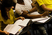 Tuition for students in Henry Thomas lecture theatre at London Metropolitan University's Holloway Road campus.