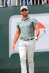 June 24, 2018 - Cromwell, CT, U.S. - CROMWELL, CT - JUNE 24: Jason Day of Australia is announced on the first tee during the Final Round of the Travelers Championship on June 24, 2018 at TPC River Highlands in Cromwell, Connecticut. (Photo by Fred Kfoury III/Icon Sportswire) (Credit Image: © Fred Kfoury Iii/Icon SMI via ZUMA Press)