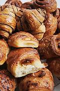 Rugelach (Yiddish: ??????, pronounced /'ru:g?l?x/) (other spellings: rugelakh, rugulach, rugalach, ruggalach, rogelach (all plural), rugalah, rugala (singular)) is a Jewish pastry of Ashkenazic origin.