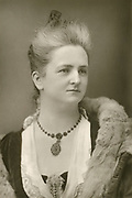 Mary Davies  Welsh mezzo-soprano who specialised in oratorio and ballad singing pictured c1890.  Co-founder in 1906 of the Welsh Folk Song Society and its first President.