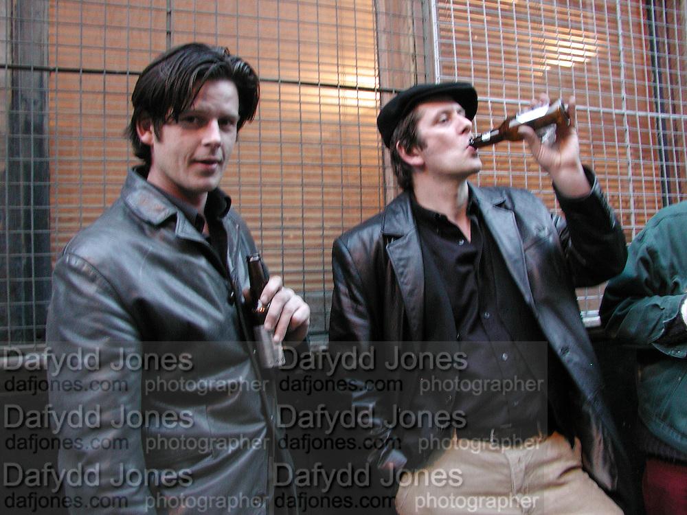 Guy Harvey and Marcus Harvey. Upstart, Mixed show to launch new James Colman Gallery, 41 Coronet Street, N1 (07957 246569)© Copyright Photograph by Dafydd Jones 66 Stockwell Park Rd. London SW9 0DA Tel 020 7733 0108 www.dafjones.com