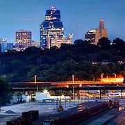 Kansas City MO downtown skyline panorama photo taken from near Metropolitan and 7th Street in KCK.