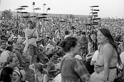 The Lawn Crowd and Tapers Section. The Grateful Dead at Pine Knob Music Theatre, Clarkston, MI on 20 June 1991