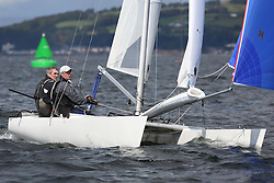 Peelport Clydeport, Largs Regatta Week 2014 Largs Sailing Club based at  Largs Yacht Haven with support from the Scottish Sailing Institute & Cumbrae. Catamaran, Hurricane 5.9 SX, 458, David Kent