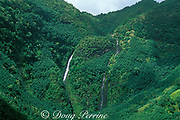 waterfalls in interior of Nuku Hiva,<br /> Marquesas Islands,<br /> French Polynesia<br /> ( South Pacific Ocean )