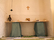 In an albergue in Navarrenx, the owner had set up a small chapel in one of the upstairs rooms for those who wanted a quite place of reflection or prayer.