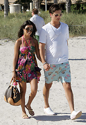 U.S reality TV star and the eldest Kardashian sister Kourtney, 28, chilled out with her boyfriend Scott Disick during a New Year break in Miami's South Beach, FL, USA, on December 31, 2007. Photo by Charles Guerin/ABACAPRESS.COM  | 140995_18