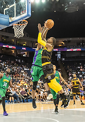 July 6, 2018 - Oakland, CA, U.S. - OAKLAND, CA - JULY 06:Stephen Jackson (5) co-captain of the Killer 3s goes for a lay up during game 4 in week three of the BIG3 3-on-3 basketball league on Friday, July 6, 2018 at the Oracle Arena in Oakland, CA  (Photo by Douglas Stringer/Icon Sportswire) (Credit Image: © Douglas Stringer/Icon SMI via ZUMA Press)
