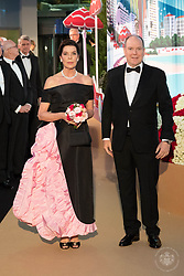 Princess Caroline of Hanover and Prince Albert II of Monaco attend the Rose Ball 2019 at Sporting in Monaco, Monaco. Photo by Palais Princier/Olivier Huitel/SBM/ABACAPRESS.COM