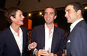 Alexander Spencer-Churchill, Fritz von Westenholz and David Peacock, Sothebys's Summer party, 7 June 2004. ONE TIME USE ONLY - DO NOT ARCHIVE  © Copyright Photograph by Dafydd Jones 66 Stockwell Park Rd. London SW9 0DA Tel 020 7733 0108 www.dafjones.com