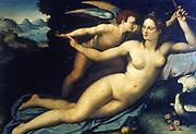 Venus and Cupid'.  Alessandro Allori (Alessandro Bronzino) 1535-1607. Italian (Florentine) painter.