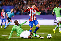 Atletico de Madrid's player Kevin Gameiro and PSV Eindhoven's player Jetro Willems and Unai Bustinza during a match of La Liga at Santiago Bernabeu Stadium in Madrid. November 06, Spain. 2016. (ALTERPHOTOS/BorjaB.Hojas)