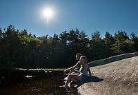 Corey and Janelle kayaking on Lake Wicwas July 1, 2012.