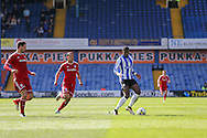 Sheffield Wednesday striker Lucas Joao (18) during the Sky Bet Championship match between Sheffield Wednesday and Cardiff City at Hillsborough, Sheffield, England on 30 April 2016. Photo by Phil Duncan.