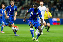 Kingsley Boateng of Italy during football match between U21 National Teams of Slovenia and Italy in 4th Round of UEFA 2017 European Under-21 Championship Qualification on October 8, 2015 in stadium Bonifika, Koper / Capodistria, Slovenia. Photo by Urban Urbanc / Sportida