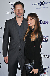 (L-R) Joe Manganiello and Sofia Vergara arrives at Jessie Tyler Ferguson's 'Tie The Knot' 5 Year Anniversary celebration held at NeueHouse Hollywood in Los Angeles, CA on Thursday, October 12, 2017. (Photo By Sthanlee B. Mirador/Sipa USA)