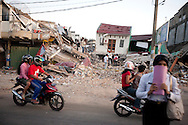 Padang, Western Sumatra, Indonesia, 9th October 2009:?An earthquake affected building  in JL in Padang following a devastating earthquake in Western Sumatra that claimed the lives of an estimated 2000 people.?Photo: Joseph Feil