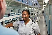 A prisone officer talks to a new prisoner on E wing.HMP Wandsworth, London, United Kingdom HMP Wandsworth, London, United Kingdom