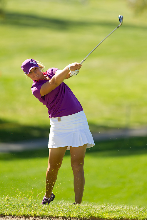 RANCHO MIRAGE, CA - APRIL 1: Anna Nordqvist of Sweden plays a shot during the second round of the 2011 Kraft Nabisco Championship at Mission Hills Country Club in Rancho Mirage, California on April 1, 2011. (Photograph ©2011 Darren Carroll) *** Local Caption *** Anna Nordqvist