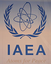 15.03.2011, IAEA, Wien, AUT, Pressekonferenz zur aktuellen Lage in Japan, im Bild IAEA Logo // IAEA Logo during Press conference about the current situation in Japan, EXPA Pictures © 2011, PhotoCredit: EXPA/ M. Gruber