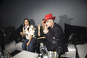 ROSANNA ARQUETTE AND BOY GEORGE, DKNY Night Fragrance launch party. The Serpentine Gallery, London, W2. 12 December 2007. -DO NOT ARCHIVE-© Copyright Photograph by Dafydd Jones. 248 Clapham Rd. London SW9 0PZ. Tel 0207 820 0771. www.dafjones.com.