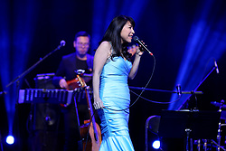 January 2, 2018 - Shenyang, Shenyang, China - Shenyang, CHINA-2nd January 2018:(EDITORIAL USE ONLY. CHINA OUT) ..Japanese-Brazilian bossa nova singer Lisa Ono performs at her concert in Shenyang, northeast China's Liaoning Province, January 2nd, 2017. (Credit Image: © SIPA Asia via ZUMA Wire)