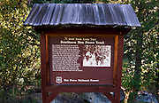 Southern Nez Perce Trail sign near beginning of Magruder Corridor