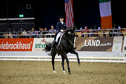 Nilshagen, Therese (SWE) , Dante Weltino OLD<br /> Oldenburg - Agravis Cup 2015<br /> Derby Dressage Cup<br /> www.sportfotos-lafrentz.de