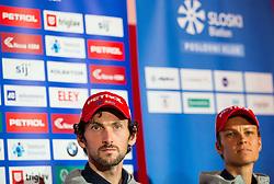 Jakov Fak and Teja Gregorin during press conference of Slovenian Biathlon Team before new winter season 2016/17, on November 10, 2016 in Petrol, Ljubljana, Slovenia. Photo by Vid Ponikvar / Sportida