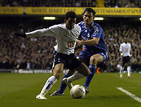 Photo: Olly Greenwood.<br />Tottenham Hotspur v Chelsea. The FA Cup, Quarter Final replay. 19/03/2007. Spurs Aaron Lennon and Chelsea's Frank Lampard
