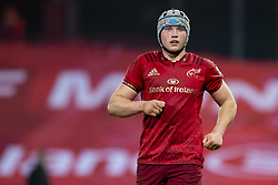 March 23, 2019 - Limerick, Ireland - Fin Wycherley of Munster during the Guinness PRO14 match between Munster Rugby and Zebre at Thomond Park Stadium in Limerick, Ireland on March 23, 2019  (Credit Image: © Andrew Surma/NurPhoto via ZUMA Press)