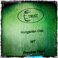 25 February 2012: PlumpJack Hungarian Oak Pinot barrel Oakville, Napa, California.  iPhone Stock Photo