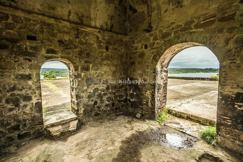 View from inside Fort San Lorenzo near Colon, Panama.
