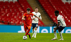 LONDON, ENGLAND - Thursday, October 8, 2020: Wales' Neco Williams during the International Friendly match between England and Wales at Wembley Stadium. The game was played behind closed doors due to the UK Government's social distancing laws prohibiting supporters from attending events inside stadiums as a result of the Coronavirus Pandemic. England won 3-0. (Pic by David Rawcliffe/Propaganda)