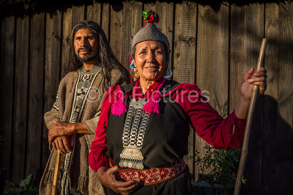 Kurrrimangk Chihuaihuen together with his wife Juana Calfunao Paillalef both are active members of the Mapuche community in the fight for their autonomy. They live on the ancestral lands of Juanas family where they lead a self sustaining life tending to their agriculture and livestock, when not confronting the authorities on matters of Mapuche self determination, Araucania, Chile. February 15, 2018.